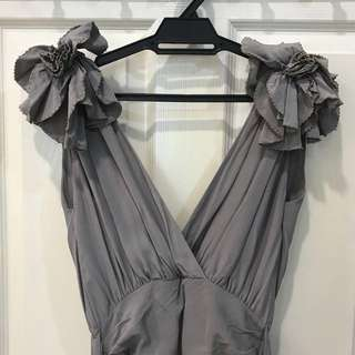 French Connection grey long gown