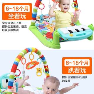 Baby Mat Piano Pedal Fitness Frame Music Bed Bell Pay Gym Toy Blanket Carpet