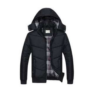 Men's Winter Jacket With Removable Hood