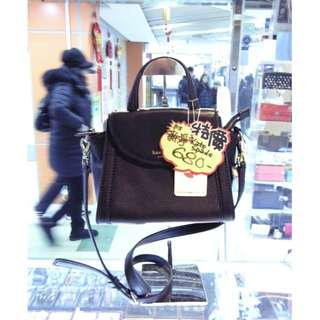 Kate Spade Black Leather Shoulder Hand Bag 黑色 牛皮 皮革 手挽袋 手袋 肩袋 袋