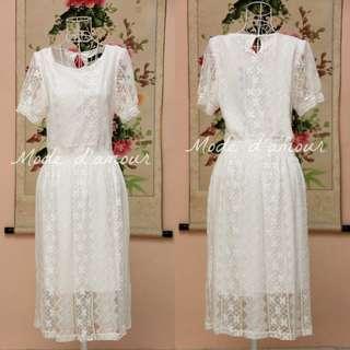 New White full lace Dress