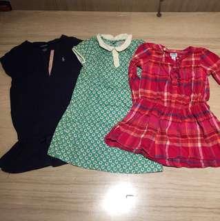 Bundle set of 3 dresses
