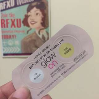 ETUDE HOUSE GLOW ON SAMPLE SACHET