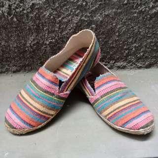 Rainbow flat shoes