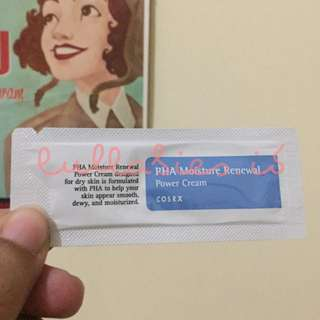 COSRX PHA MOISTURE RENEWAL CREAM SAMPLE SACHET