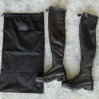 New Alexander Wang over-the-knee leather boots 37