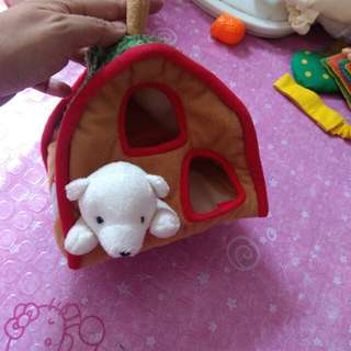 puppy with dog house ( Softoy)