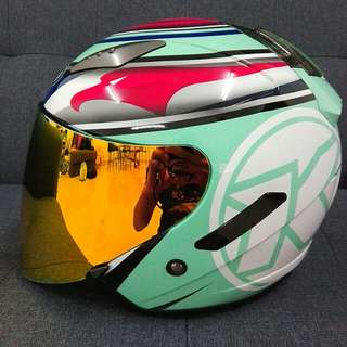 KYT HELLCAT AQUA SINGLE VISOR