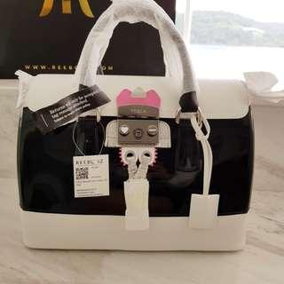 Furla Black Onyx Bowler Bag