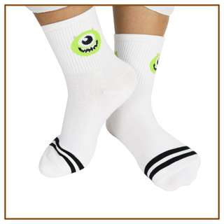 Iconic Cute Mike Wazowski Character Socks