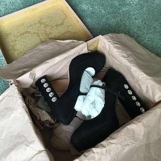New in box authentic Miu Miu platform heels with cystals 38