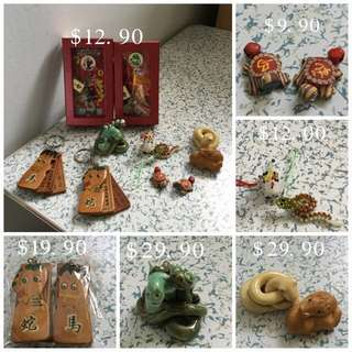(Handwork)6 Difference Design Snake & Horse Car / Home Decoration Items