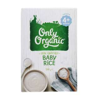 ONLY ORGANIC BABY RICE 200G