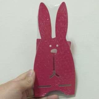 🚚 木質兔子手機支架(紅色)
