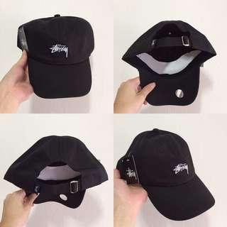 INSTOCKS Black Stussy Baseball Cap