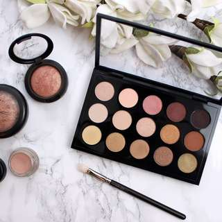 Mac eyeshadow x15 warm neutral palette