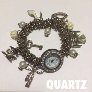 Quartz Charm Bracelet Watch (Authentic)