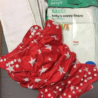 Reusable Diapers, Nappy Liners, Pads