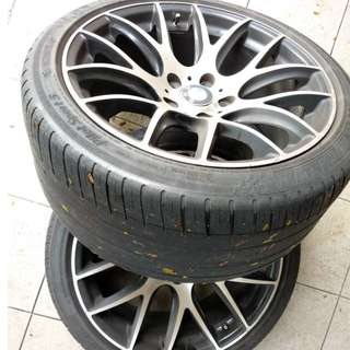 Car Tyres with Rim 18""