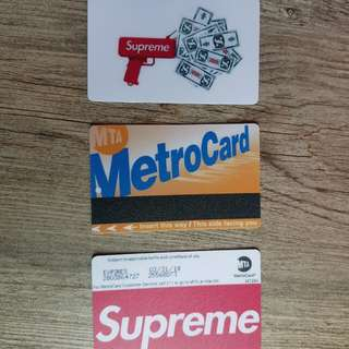 Brand new in stock Supreme ez link /card stickers