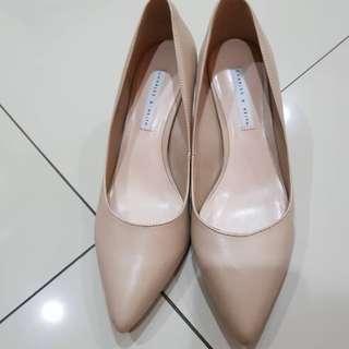 Charles n keith heels cream
