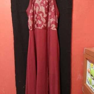 Long Dress Merah ( Ada Puring Nya)