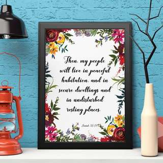 [somegoodwords] Art Print, Gift, Customised, Home Decor, Birthday gift, Wall display, Housewarming gift, Typography Art, Inspirational Quote, Bible Verse, Poster, Product Code 209