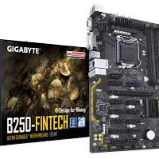 支援12卡 台灣入口 Gigabyte b250 Fintech 挖礦神器