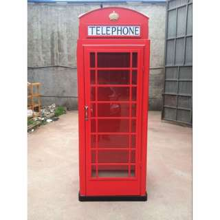 we fabricate vintage London phone booth for sales