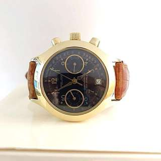 Poljot Chronograph Vintage Gold plated Case watch(W0583)