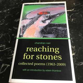 Reaching For Stones - Collected Poems By Chandra Nair With Introduction By Edwin Thumboo - Special Offer!