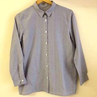 Basic striped work shirt