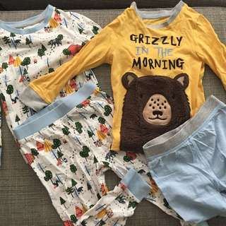 Cute Grizzly Bear Pyjamas Set of 2