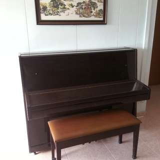 (Price Reduced for fast deal) Upright Meer Piano 626 with Free Bench