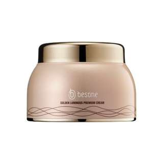 Besone Golden Luminous Premium Cream Korean Dewy Skin/Natural Glow (50g)