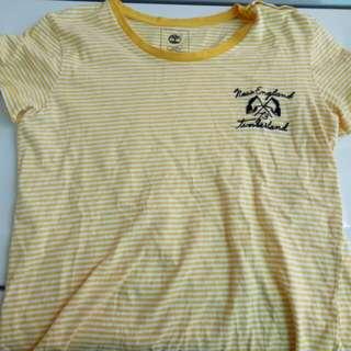 🚚 Timberland 黃白條紋旗幟短袖T-shirt