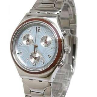 男士情人節禮物Swatch 全新三眼計時腕錶