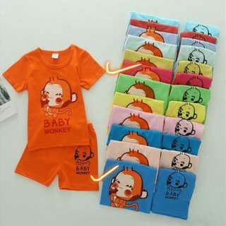 Children Short Sleeve T-shirt with short