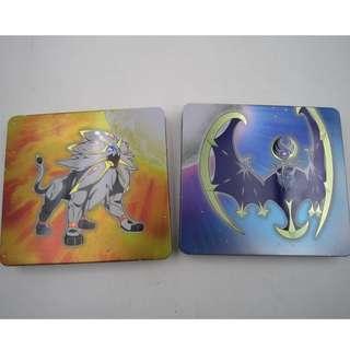 Pokemon Sun & Moon dual pack Nintendo 3DS Steelbook Case (NO GAME)