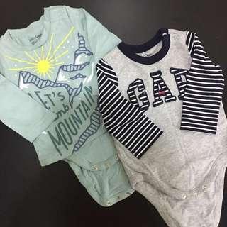 Baby Gap Rompers 2 pcs