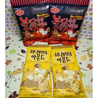 Snack Korea Honey Butter dan Hot Spicy Almond