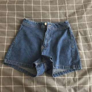 High waisted denim shorts frm Bershka