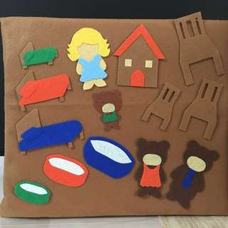 (Sold) Goldilocks and Three Bears felt story