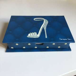 Blue and white note pad