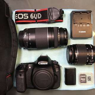[ SOLD ] Canon 60D + 18-55mm IS II + 75-300mm in excellent condition. CHEAP!!!