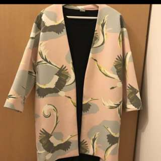🚚 H&M 粉色和服式開襟外套
