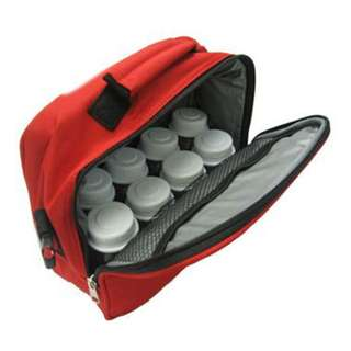 BUBBLES PREMIUM COOLER BAG WITH SLING/HANDLE (RED)