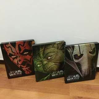 Star Wars Limited Edition Steelbooks Episode 1-6