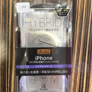 apple iphone X 保護case bumper  透明  #16  日本直送 新品