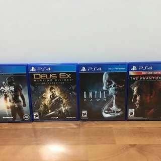 Deus Ex, Mass Effect, MGSV, FarCry4